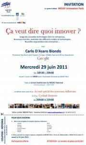 Invitation Medef Innovation