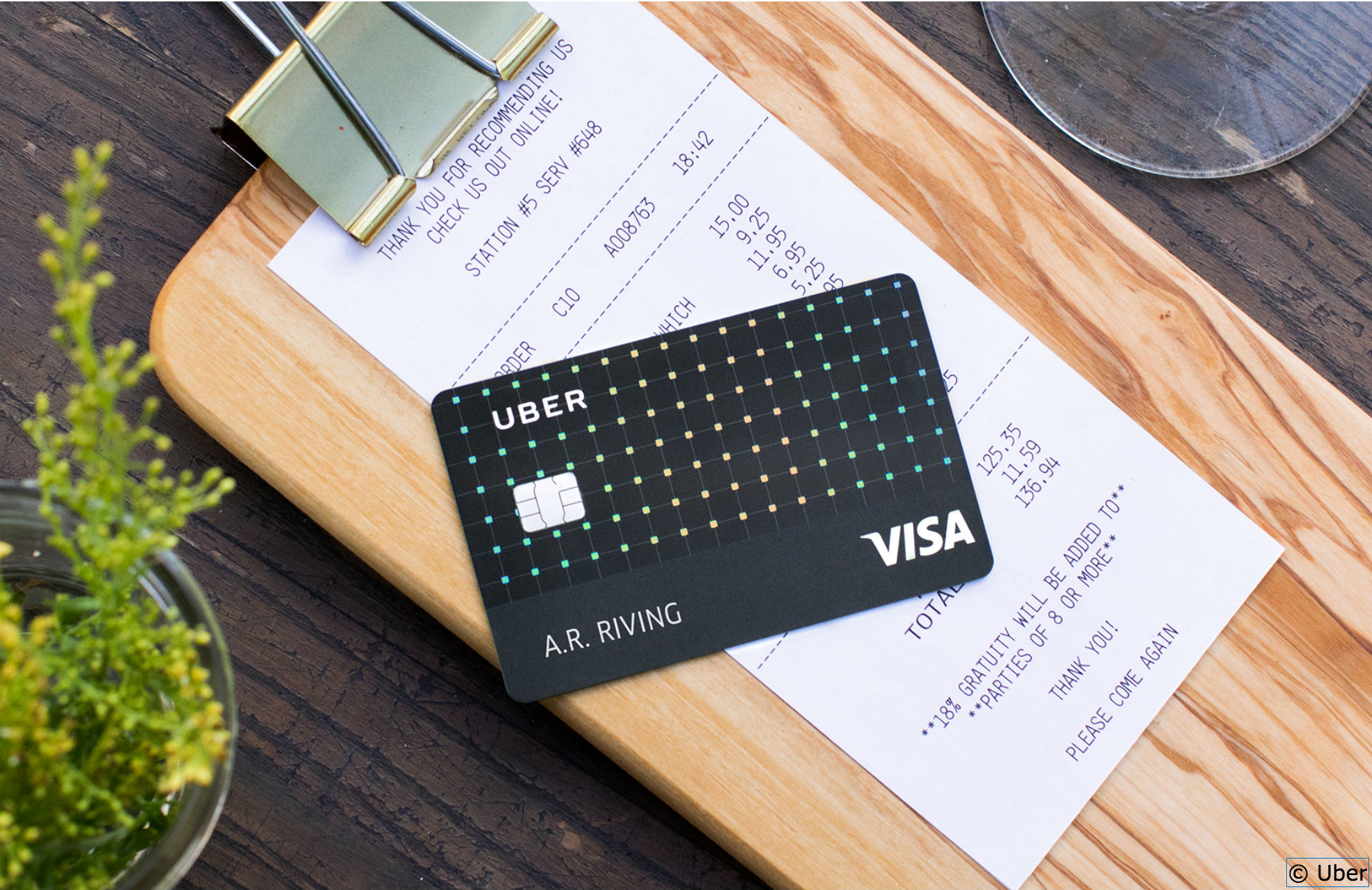 carte de crédit Uber
