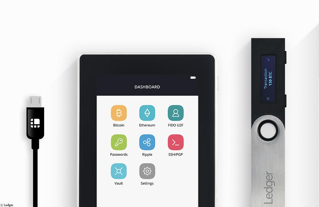 startups de la blockchain 1 ledger cr e des portefeuilles mat riels pour vos monnaies virtuelles. Black Bedroom Furniture Sets. Home Design Ideas